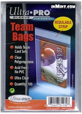 100 CLEAR TRADING CARD SLEEVES - Protective Team Bags Pokemon MTG Yugioh Sports
