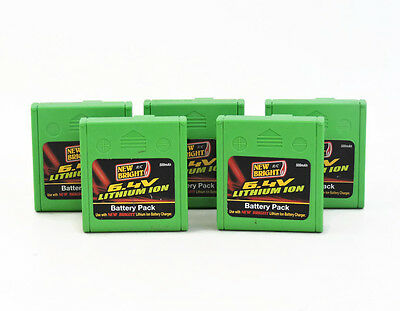 6.4V Battery LOT Green Lith New Bright RC Lithium Ion Rechargeable Batteries x5