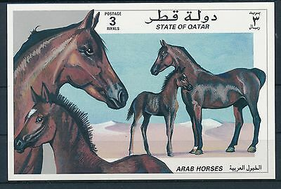 Qatar 1997 Arab horses - Fauna mini sheet scarce MNH