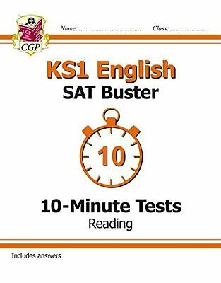 KS1 English SAT Buster 10-Minute Tests: Reading  by CGP Books New Paperback Book