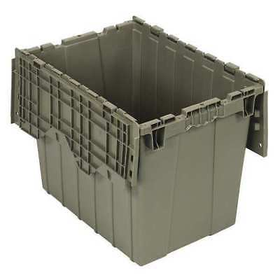 QUANTUM STORAGE SYSTEMS QDC2115-17 Attached Lid Container, 2.31 cu ft, Gray