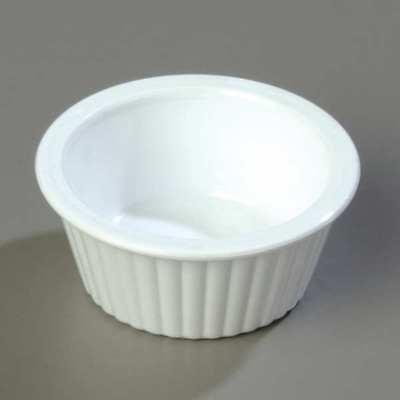 White Fluted Ramekin, White ,Carlisle, 84302