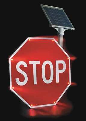 TAPCO 2180-00209 LED Stop Sign, Stop, White/Red