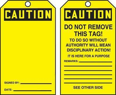 ACCUFORM SIGNS TAR156 Caution Tag By The Roll, 6-1/4 x 3, PK250