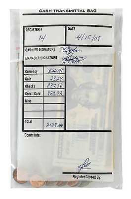 MMF INDUSTRIES 236006920 Cash Transmittal Bag,Plastic,9in H,PK500