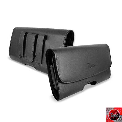 Extra Large Size Leather Pouch Belt Clip Holster For LG Aristo MS210/ LV3