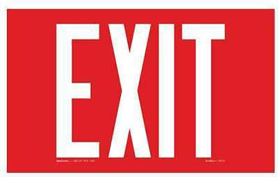 ADDLIGHT 8.02R Exit Sign,9-1/4x12in,Red/Ylw,Surf