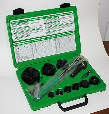 Greenlee 36687 Manual Round Standard Knockout Punch Kit