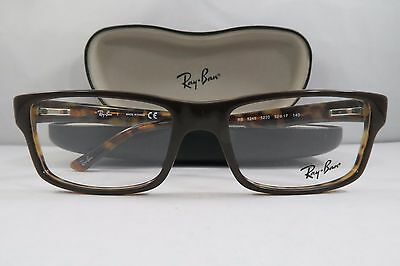 0d356bf1925 Ray-Ban RB 5245 5220 Shiny Brown on Havana New Authentic Eyeglasses 52mm w