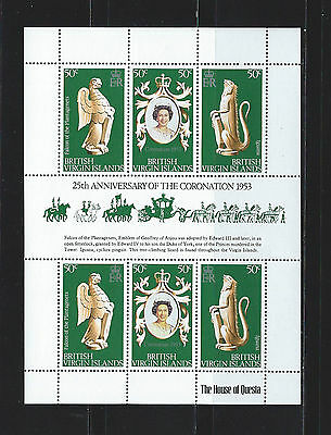 British Virgin Islands 1978 25th Anniv. of Queen Elizabeth II sheet MNH SC#337