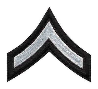 HEROS PRIDE 5400P Embroidered Patch, PFC, White on Black, PR