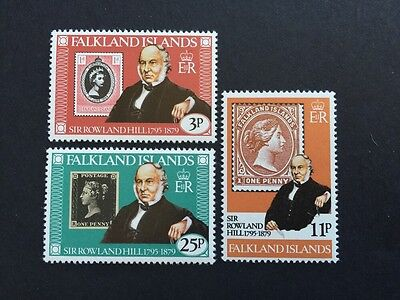 ASstamps Falkland Islands 1979 Air Rowland Hill set SC#291-293 MNH