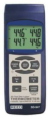 REED INSTRUMENTS SD-947 TC Thermometer/Data Logger, K, J, R, S, E, T