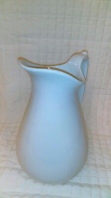 Vintage Royal Stone China by Baker and Co England tall white water pitcher