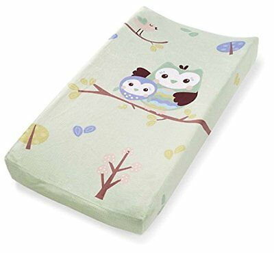 Owl Changing Pad Cover Soft Plush Baby Diaper Infant Nursery Table Bassinet ฺBed