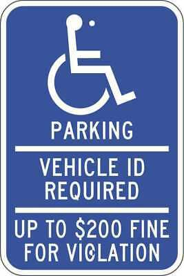 ZING 2691 Handicap Parking Sign, 18in Hx12in L