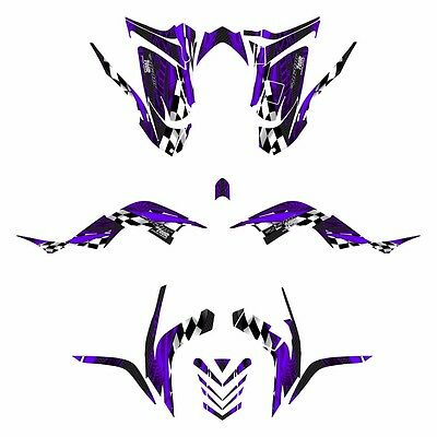 Raptor 700R  graphics 2006 - 2012 full coverage Yamaha decal kit #3500 Purple