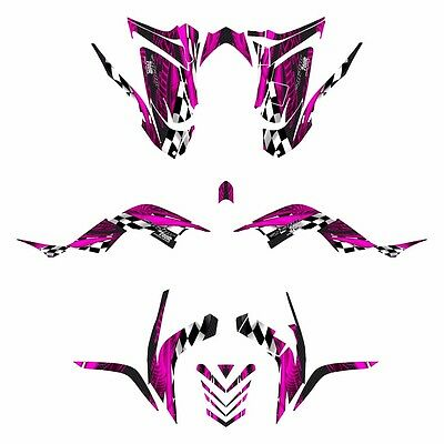 Raptor 700 graphics 2006 - 2012 full coverage deco kit #3500 Hot Pink
