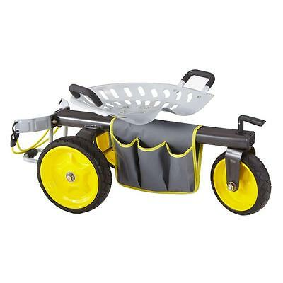 Rolling Garden Scooter Tool Outdoor Yard Work Knee Gorilla Carts and Back Saver