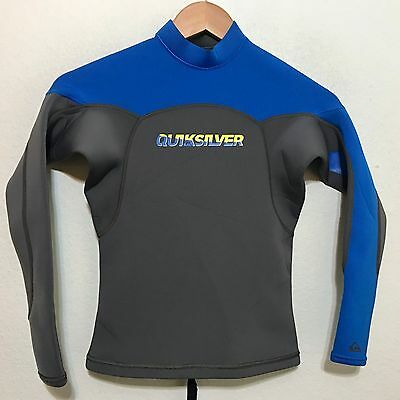 Quiksilver Childs Long Sleeve Wetsuit Top 1.5mm Juniors Youth Size 14