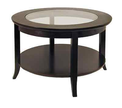 Winsome Wood Round Coffee Table, Espresso