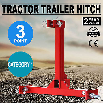 Tractor Trailer Hitch Receiver Category 1 Drawbar Heavy Duty Industrial Pro