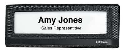Name Plate, Black ,Fellowes, 7703201