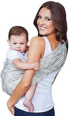 HOTSLINGS Adjustable Pouch Baby Carrier Sling, Large, Grey, White