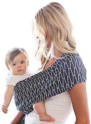 HOTSLINGS Adjustable Pouch Baby Carrier Sling, Regular, Navy, White
