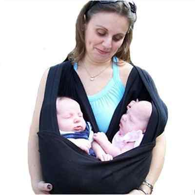 NAVA New Black Baby Rope Wrap Sling Carrier Baby Twin Toddler Pouch