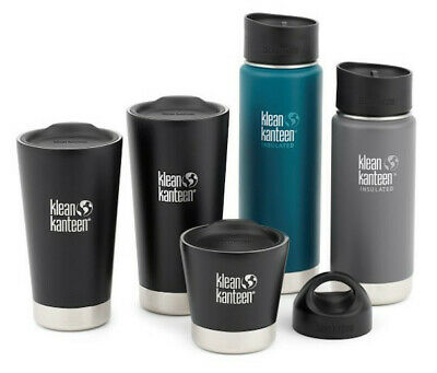 Klean Kanteen Wide 592ml Insulated Thermos Camping Bottle Cafe Cap Mineral Red