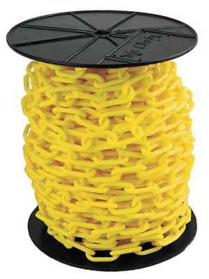 MR. CHAIN 30102 Plastic Chain, 1-1/2In x 200 ft., Yellow