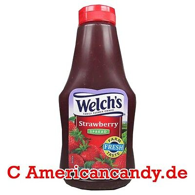 NEU: 1x Welch's Squeezable Concord Strawberry Spread 624g Desserts (14,41€/1kg)