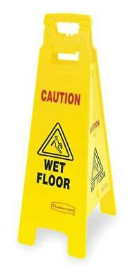 RUBBERMAID FG611477YEL Floor Safety Sign, Caution Wet Floor, Eng