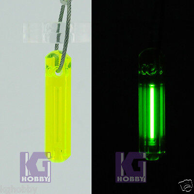 Tritium Fluorescence BIG SIZE Keychain Self illumination GREEN GLOW LIGHT 15yrs
