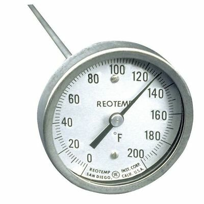 Reotemp A36p 0-200 F Bimetal Thermom, 3 In Dial, 0 To 200F
