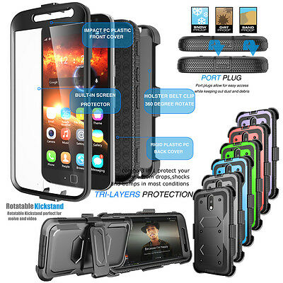 For Motorola Moto G4/G4 Plus Refined Phone Cover Belt Clip Holster Hard Case