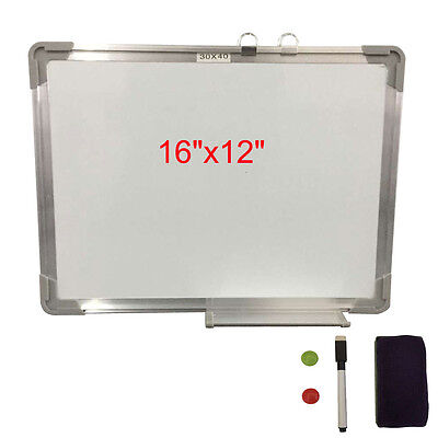 """16""""x12"""" Magnetic Writing & Drawing Whiteboard Dry Erase w/Board Office W/ Eraser"""