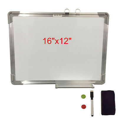 "16""x12"" Single Side Magnetic Writing Whiteboard Dry Erase Board Office W/ Eraser"