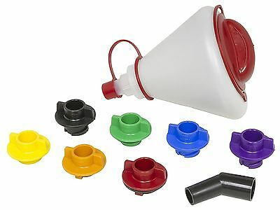 Car Vehicle Oil Fill Funnel Kit Set Hands Free Filling Flat Rate Tech Adapters