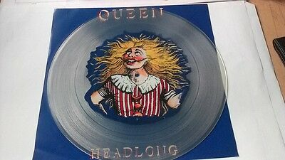 """12"""" Queen """" Headlong """" Limited Edition Uk Picture Disc 1991   Clear Vinyl Mint"""