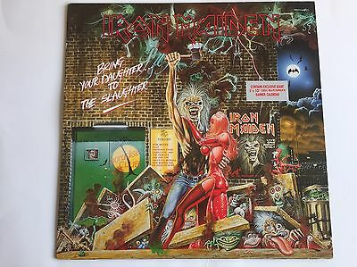 """Iron Maiden-Bring Your Daughter To The Slaughter-Rare 12"""" Vinyl +Banner Calendar"""