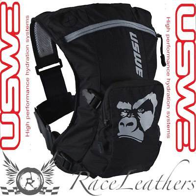 Uswe Ranger Black 3 Litre Backpack Rucksack With 2L Elite Bladder Motorcycle Mtb