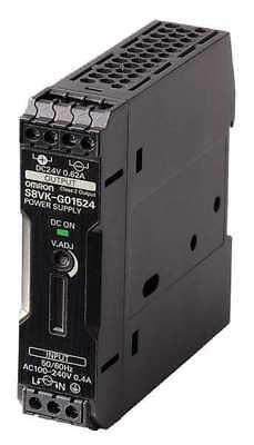 OMRON S8VK-G01524 DC Power Supply,24VDC,0.65A,50/60Hz
