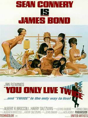 "Framed Classic vinatge movie poster ""James Bond You Only Live Twice"" 30% off"