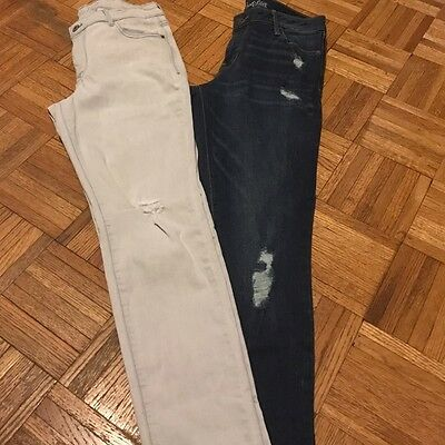 Old Navy Distressed Rockstar Jeans Lot Of 2