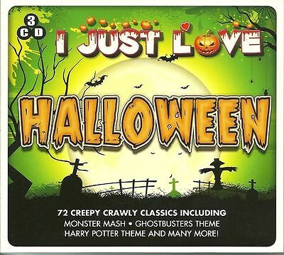 I Just Love Halloween New 3 Cd Set 72 Creepy Hits Monster Mash, Ghostbusters