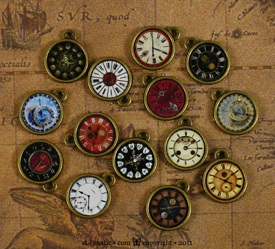 ~Steamed~ Miniature Steampunk Pocket Watch Clock Charm - PICK ONE out 14 designs