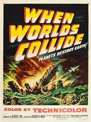 "Framed Classic vinatge Sci- Fi movie poster ""When Worlds Collide""  30% off"