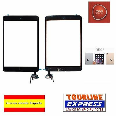 Pantalla Tactil Digitalizador Cristal + Adhesivos + Home Apple Ipad Mini 3 Negro